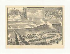 Die Kaisermanöver bei Homburg v. d. H. F. W. Heine Bergen Armee Holzstich E 8596