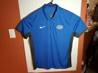 Nike Dri Fit Florida Gators Mens XL Blue Gray Short Sleeve Golf Polo Shirt