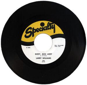 """LARRY WILLIAMS  """"DIZZY, MISS LIZZY c/w SLOW DOWN"""" STORMING CLASSIC R&B"""