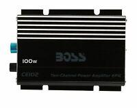 BOSS Audio CE102 100 Watt, 2 Channel, 4 Ohm Stable Class A/B, Full Range, MOS...