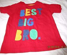 Boys Red T Shirt Age 3 Peacocks
