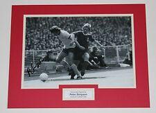 PETER SIMPSON Arsenal HAND SIGNED Photo Mount Display Football Memorabilia + COA