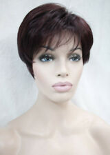 Excellent Black Burgundy mixed Short Straight Women Ladies Daily wig FTLD044