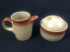 Mikasa Country Cabin Ben Seibel Potters Art Creamer and Sugar Bowl with Lid