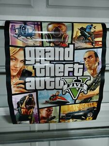 GTA 5 Promo Poster Double Sided Gamestop 22x28 2013