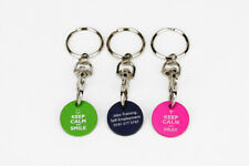 More details for 1 - 100 personalised customised engraved printed logo metal circle trolley coin