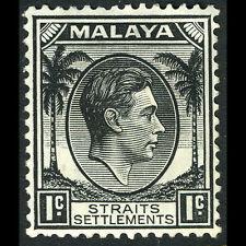 Malaya Straits Colonies 1937-41 1c Noir. Sg 278. Excellent État à Charnières
