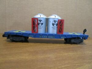 American Flyer, S Gauge, 24574, US Air Force Flatcar w/ rocket fuel containers.