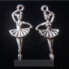 50pcs 29mm Charms Ballet Girl Tibet Silver Pendants Connectors DIY Jewelry A7704