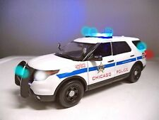 CHICAGO POLICE FORD Diecast Model Car SUV Explorer WORKING LED LIGHTS 4 SIREN