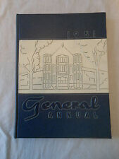 Year Book ANNUAL High School WOOSTER OHIO Generals 1951 2 of 2