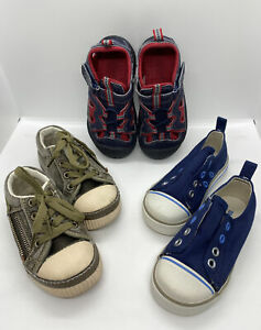 Lot 3 Pair Toddler Size 7 Shoes Old Navy Sneakers OshKosh Tempu Speed Canvas