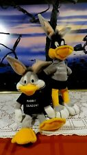 "Warner Bros. Bugs Bunny & Daffy Duck Rabbit Season Bean Bag Plush - 11"" Nwt"