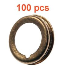 (100) Marli 12 Mm Foldover Copper Oil Drain Plug Gaskets Fits Nissan Infinity