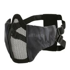 Lixada Tactical Foldable Half Face Mask Protective Mesh Mask for Airsoft H6A9