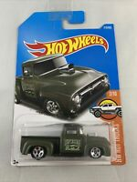 Hot Wheels - Custom '56 Ford Truck - 2015 Hot Trucks LONG CARD - BOXED SHIPPING