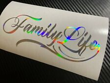 OIL SLICK Family Life Car Sticker Decal JDM Vdub Kids Fan MPV Estate Wagon Bus