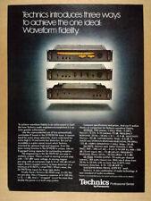 1978 Technics ST-9030 Tuner SU-9070 Pre-amp SE-9060 Amplifier vintage print Ad
