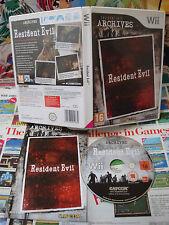 Nintendo Wii:Resident Evil Archives [TOP CAPCOM & 1ERE EDITION] COMPLET - Fr