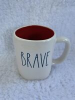 NEW Rae Dunn BRAVE Mug Red Interior HTF *EXPERT SHIPPER*