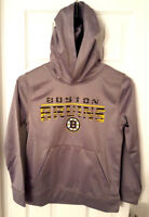 BOSTON BRUINS Youth Hoodie Sizes Small 8 Medium 10/12 or Large 14/16 Fleece Line