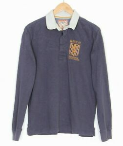 REPLAY Casual Polo Rugby Shirt Men Size L Long Sleeve