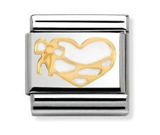 Nomination Charm White Enamel Heart With Ribbon RRP £22
