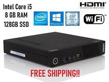 Lenovo ThinkCentre M93p USFF Tiny i5-4570T 8GB RAM 128GB SSD  HDMI Win10Pro WiFi