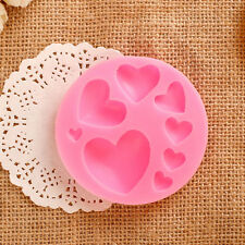 3D DIY Lovely Heart Shape Silicone Cake Fondant Mold Sugar Chocolate Mould 1pc