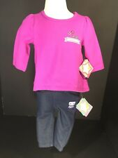 Baby Clothes Girl 2 Piece Set SZ 6/9 Months L.sleeve Top Pants Nursery Rhyme NEW