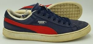 Puma Basket Classic Canvas Low Trainers 355759 21 Navy/Red/White UK11/US12/EU46