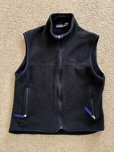 Patagonia Synchilla Fleece Vest Black Women's Medium - Made In USA