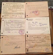 alte Meldescheine 30er 40er Jahre Kriegsgefangenschaft usw