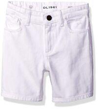 DL1961 Max Denim Bermuda Shorts Boy's Stretch Adjustable Waistband, White, 7