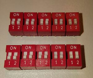 2 Way DIP switch Pack of 10