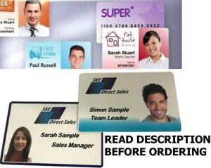 CUSTOM Printed Plastic ID Cards, Staff Name Badges, Membership Business Cards