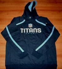 Tennessee Titans Hoodie Large Authentic Valiant Collection Reebok NFL Blue