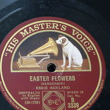 78rpm ESSIE ECKLAND easter flowers / there is no death