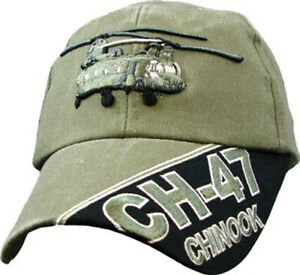 CH-47 Chinook Hat / Washed OD Green Baseball Cap