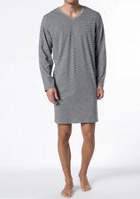 Schiesser Nachthemd grau Melange langer arm Größe 48