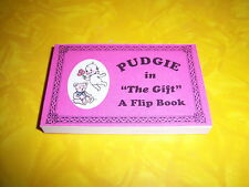 kewpie fun FLIP BOOK-PUDGIE in THE GIFT-ALYSE NEWNMAN art-1999-BRAND NEW