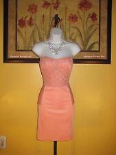 NWT  bebe 2b Naomi Corset Peplum Lace Dress Size XL