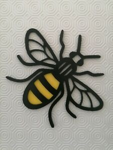 Manchester bee wall decoration Worker Bee Modern Art Black and yellow 3d printed