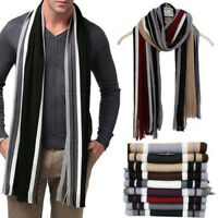 Winter Warm Cashmere Scarf Tassel Striped Long Shawl Wrap Men Gift-11 Colors