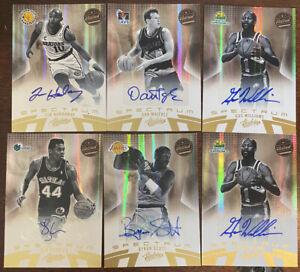 2010-11 Absolute Autograph 6 Card Lot Tim Hardaway 1/49! Byron Scott 28/49 4more