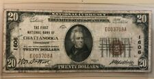 1929 $20 twenty dollars First National Bank of Chattanooga Tennessee 1606