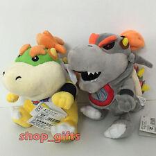 "2PCS New Super Mario Bros Plush Dry Bowser Jr. Soft Toy Stuffed Doll Teddy 7.5"""