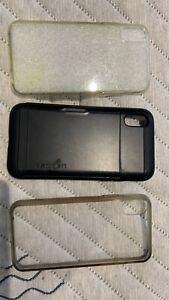 Spigen Slim Armor CS Works with Apple iPhone Xs/X Case - Black + 2 FREE CASES