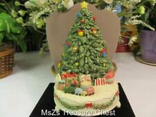 """Vintage Handcrafted Otagiri Holiday Tree Music Box """"O Tannenbaum"""" And It Works!"""