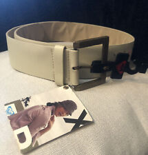 Roxy Quicksilver Ivory Faux Leather Studded Floral Belt Womens Size Small/Med